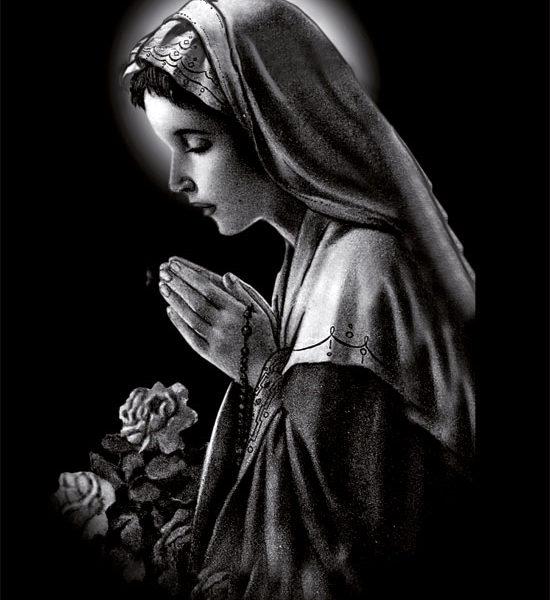 Пример рисунка «Дева Мария»